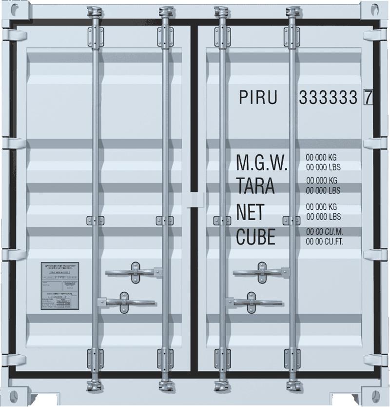 Маркировка контейнера 20 тонн