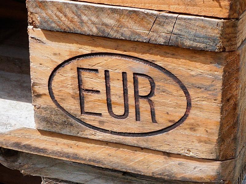 Маркировка EUR на поддоне