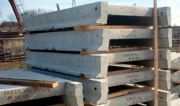 Складирование изделий из бетона